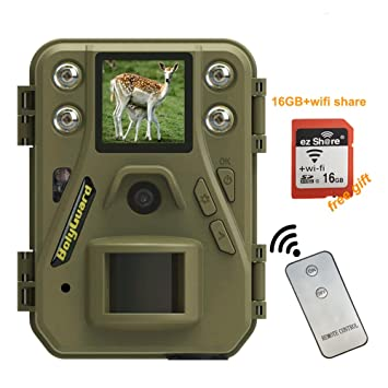 Bolyguard Wildlife Trail - Cámara de vigilancia de 12 MP 720P HD por infrarrojos con visión