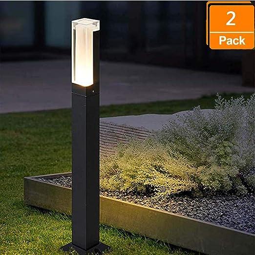 Bolardo de luz LED de Amkoc, lámpara de pie para exteriores de diseño simple, iluminación exterior elegante, lámpara de trayectoria LED para exteriores, lámpara para exteriores: Amazon.es: Iluminación