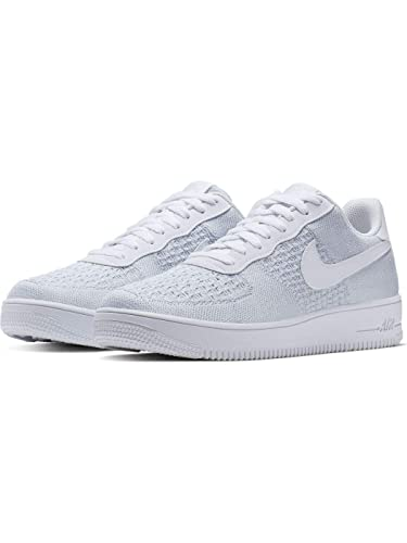 e838100b3 Nike Air Force 1 Flyknit 2.0 Mens Sneakers AV3042-100, White/Pure Platinum
