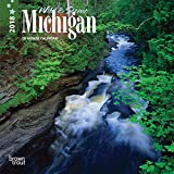Michigan, Wild & Scenic 2018 7 x 7 Inch Monthly Mini Wall Calendar, USA United States of America Midwest State Nature (Multilingual Edition)