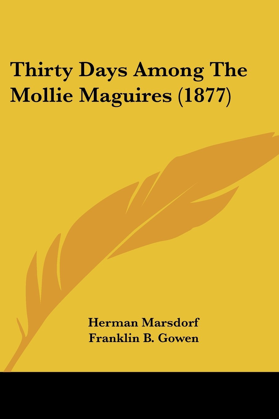 Read Online Thirty Days Among The Mollie Maguires (1877) ebook