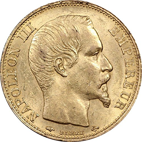 1859 France 20 Francs Gold Coin, Napoleon III, About Uncirculated Condition - Napoleon Gold Coin