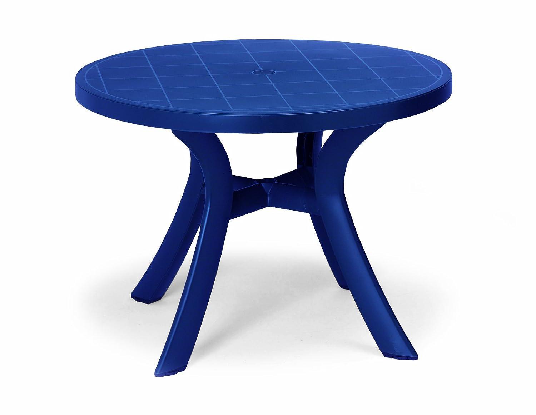 Amazon De Best 18511020 Tisch Kansas Rund Durchmesser 100 Cm Blau