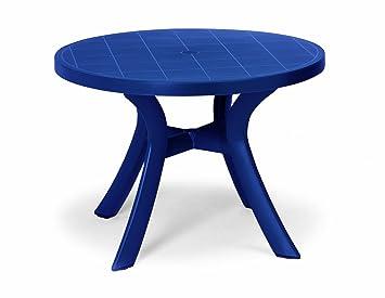 Best 18511020 Kansas Table Ronde Bleu Ø 100 cm: Amazon.fr ...