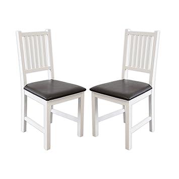 Esszimmerstühle Lucca (Weiss, 2 x Stühle): Amazon.de: Küche & Haushalt