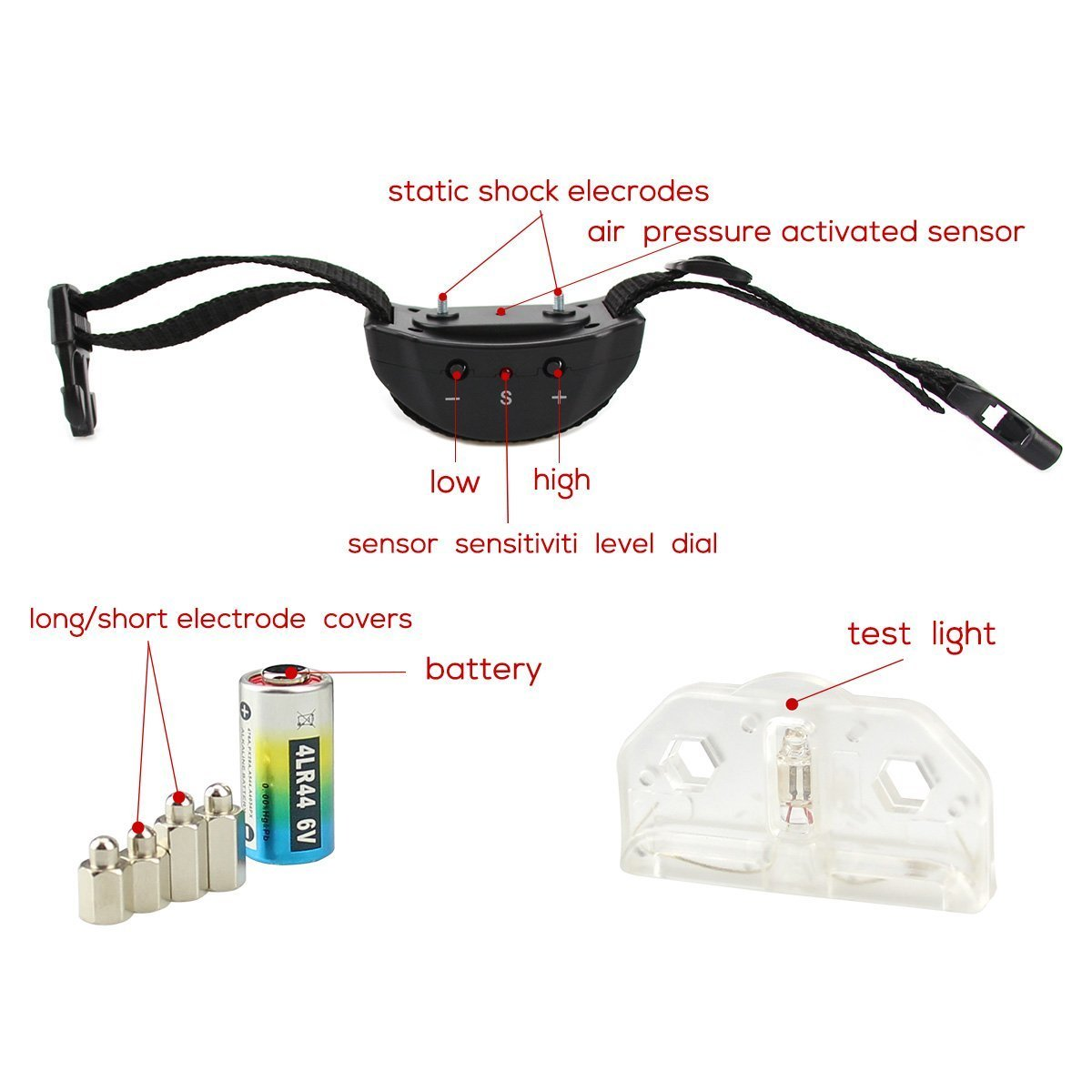Bark Control Collar For Most Of Pet Dogs Anti Bark Collar No Harm Warning Beep and Vibration