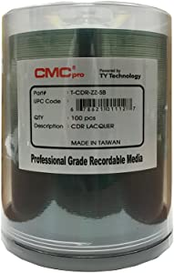 CMC Pro - Powered by TY Technology Shiny Silver CD-R - 100-Pack Spindle