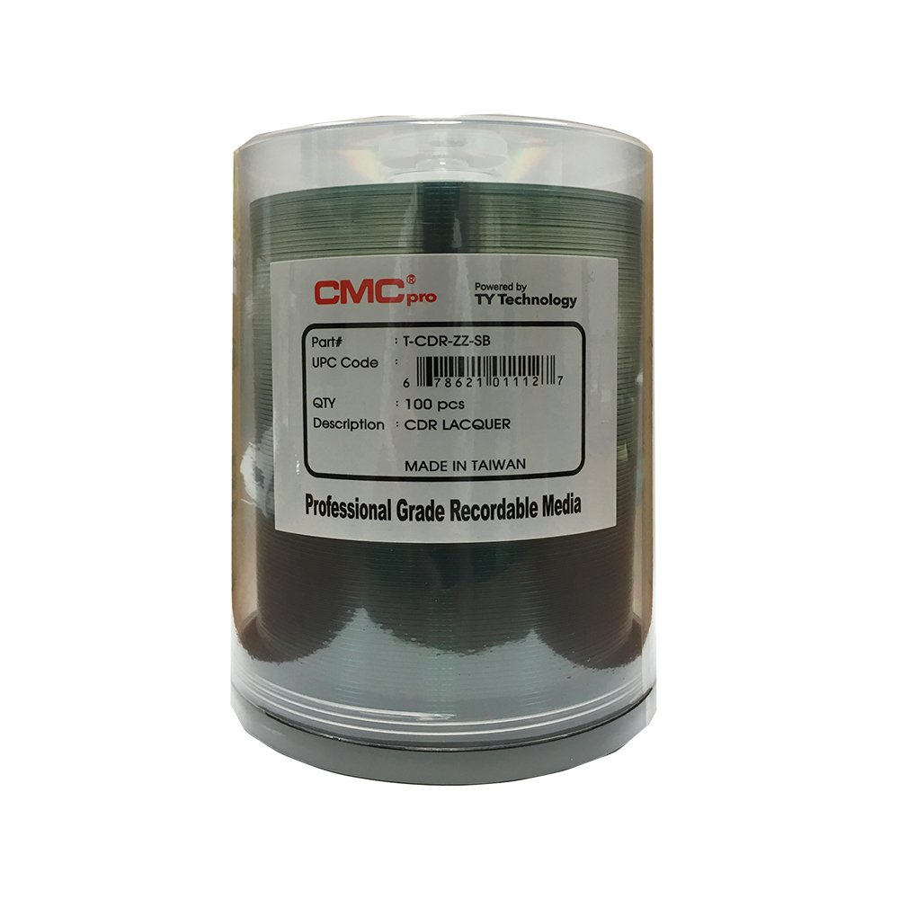 CMC Pro - Powered by TY Technology 48X Shiny Silver Lacquer 80m/700mb CDR in ...