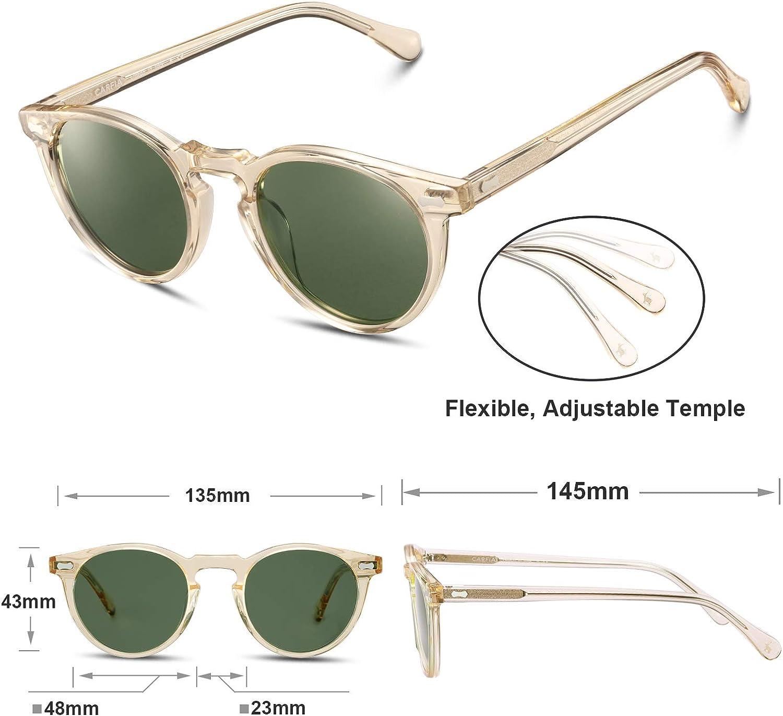 Carfia Vintage Polarizadas Gafas de Sol Mujer Hombre UV400 Protecci/ón para Viajes Conducir