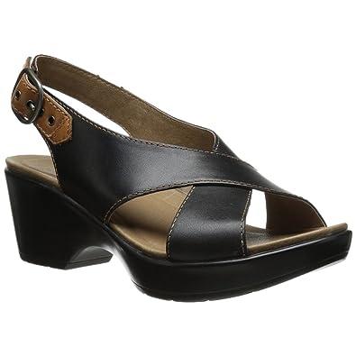 Amazon.com | Dansko Stylish Jacinda Women Platforms & Wedges Sandals,  Elegant Footwear, Black Full Grain, Size - 38 | Platforms & Wedges