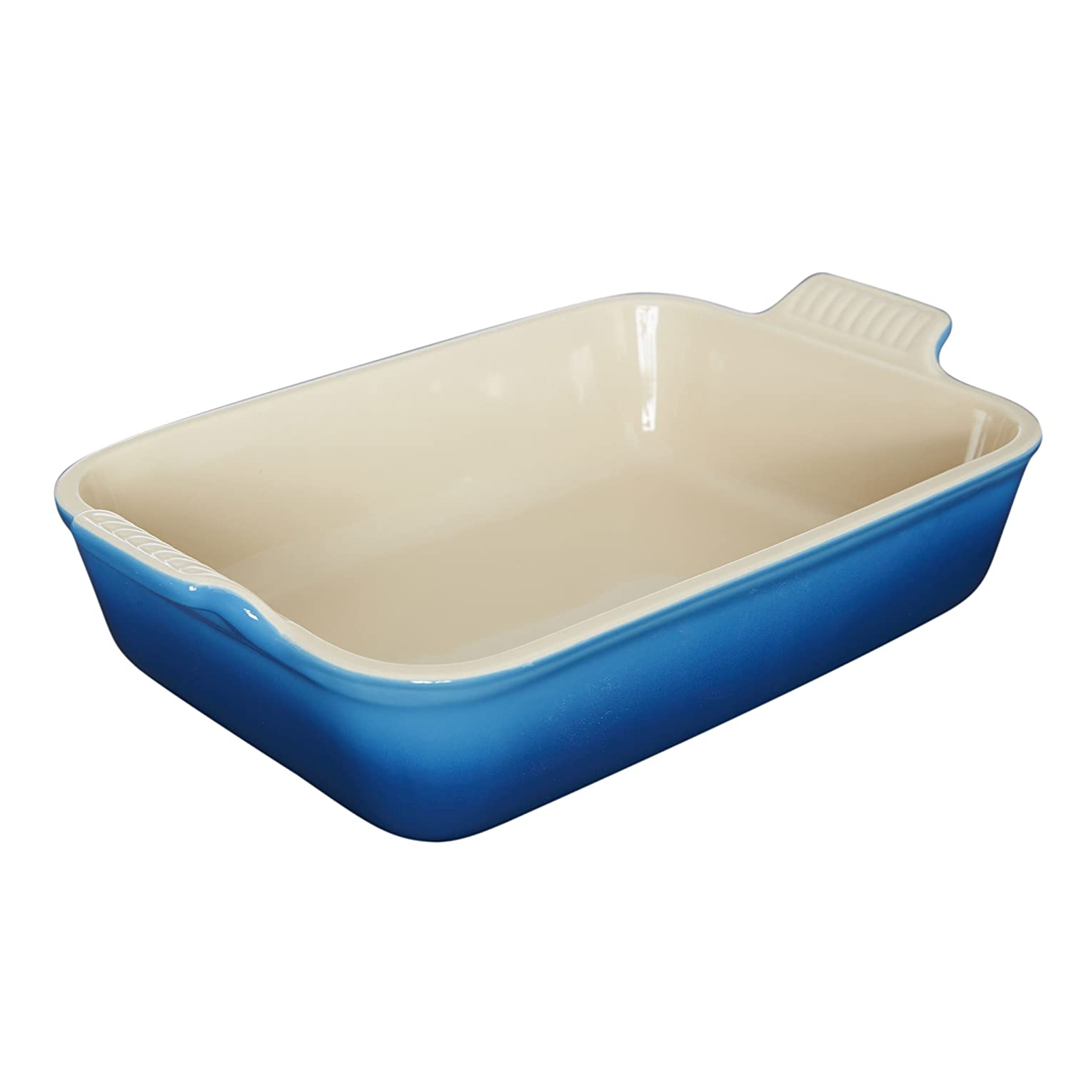 Le Creuset PG0700-2659 Heritage Stoneware Rectangular Dish, 10-1/2-by-7-Inch, Marseille