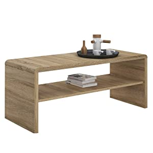 Furniture To Go 4YOU Coffee Table/TV Stand Unit, Heat & Scratch Resistant-Sonama Oak, Small