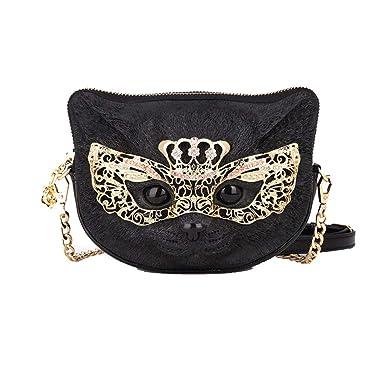 f4b71db548 FPAIL Female 3D Stereo Cat Face Chain Bag Personality Messenger Bag Fashion  Wild Cute Pet Shoulder
