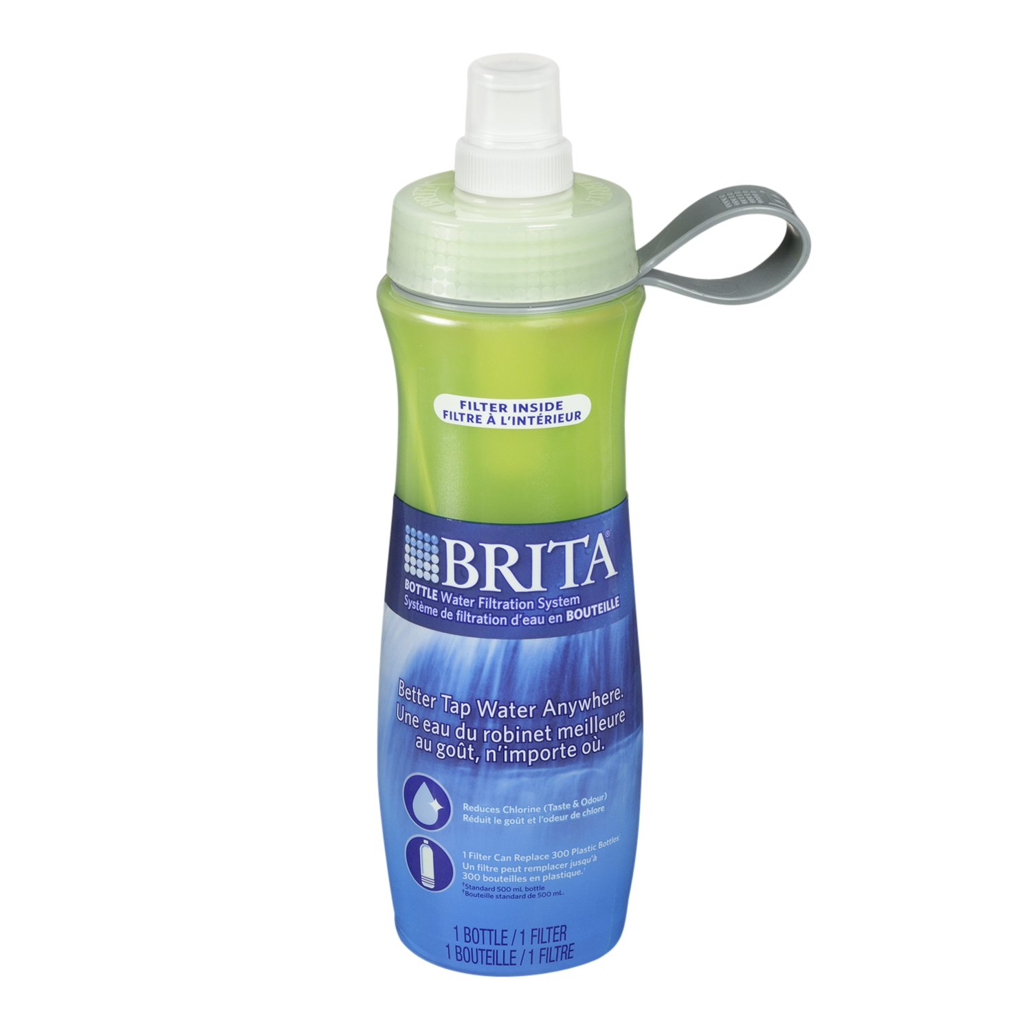Amazoncom Brita 20 Ounce Water Filter Bottle with 1 Filter Green