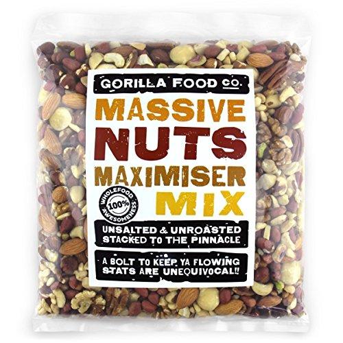 Maximizer 2Lbs Premium Mixed Nuts Raw Unsalted (w/ Macadamias, NO PEANUTS)