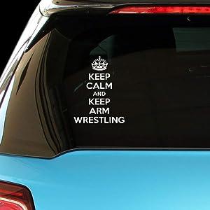 PressFans - Keep Calm and Keep ARM Wrestling Car Laptop Wall Sticker