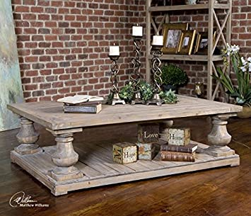Delightful Amazon.com: Rustic Pine Architectural Baluster Coffee Table: Kitchen U0026  Dining