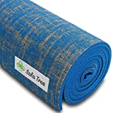 Cheap Sala Tree: Serenity – Exclusive Natural Jute Yoga Mat, Extra Long 72″, Extra Thick 8 mm, Non Slip, For Any Type of Yoga, Pilates, or Exercises! (Blue)