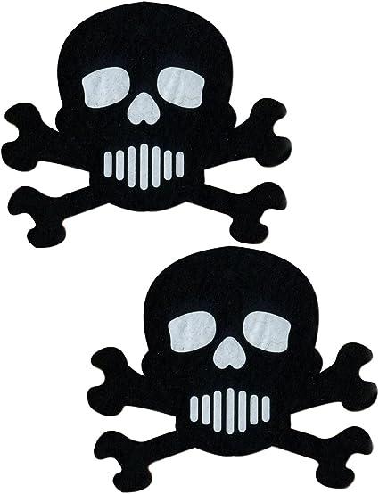 PASTEASE brand Pasties Skull and Crossbones Nipple Pasties Buy 2 Get 1 Free