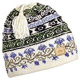Turtle Fur Women's Lady Fairisle, Classic Wool Ski Tassel Hat, White
