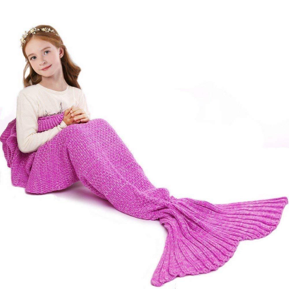 Manta tejida a mano en forma de cola de sirena, cálida y perfecta ...