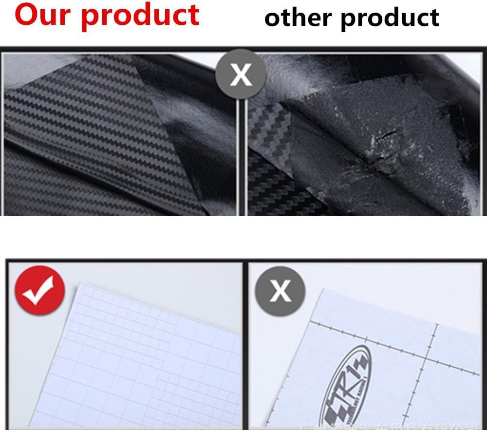 V/éhicule 2PCS Minleer 4D Autocollant Fibre Carbone adh/ésif Pour Voiture fibre carbone vinyle autocollant 152 cm x 30cm Noir 4D Film Vinyle Arri/ère Coque de Smartphone Moto