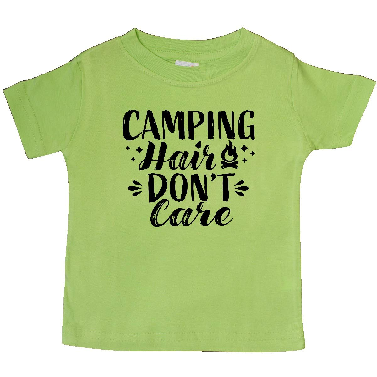 inktastic Camping Hair Dont Care with Campfire Baby T-Shirt