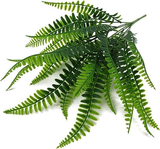 4 X Artificial Plastic Greenery Fern Plant Rosemary Bush Leaf Foliage Garden