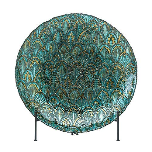 Boomer888 Glass Peacock Plate Large 15