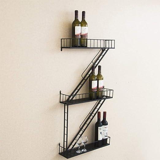 La pared del restaurante Bastidores Bastidores viento Escalera Z Tipo de vino tinto Estante Estantería Botelleros portabidones de vino Estantería de Botellas Botellero pequeño Estanterías de vinos: Amazon.es: Deportes y aire libre