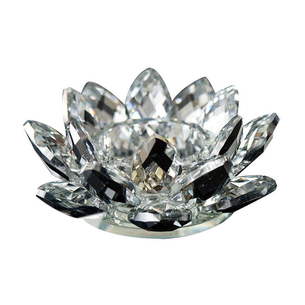 Amazon.com: Lotus Crystal Lotus Flower Tea Light Candle