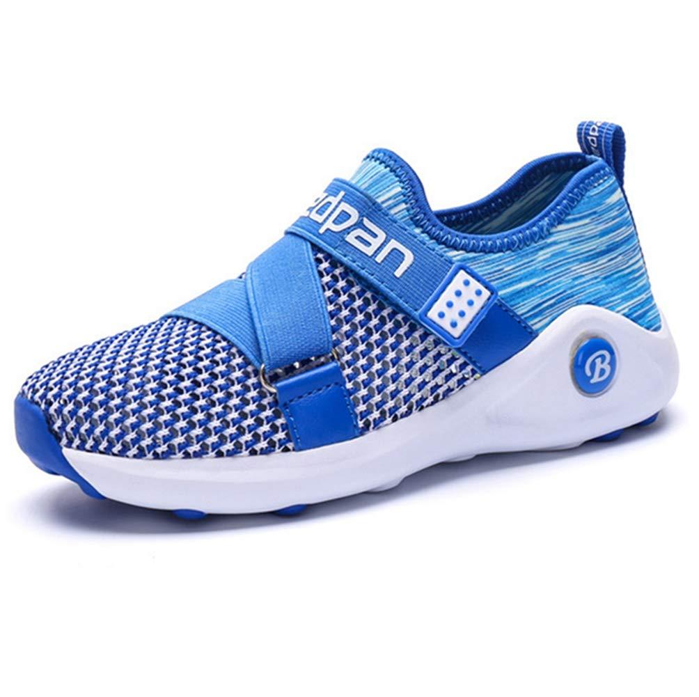LGXH Boys Girls Lightweight Casual Tennis Shoes Ant-Slip Youth Kids Sports Walking Athletic Footwear Sapphire Size 4 M US Big Kid