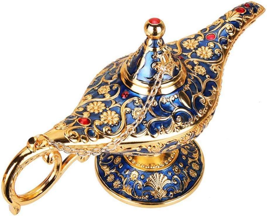 Couleur /étain Ancienne vientiane Aladdin Lampe Classique R/étro L/égende Aladdin Magique Elf Costume Home Office D/écoration Bureau D/écoration Artisanat