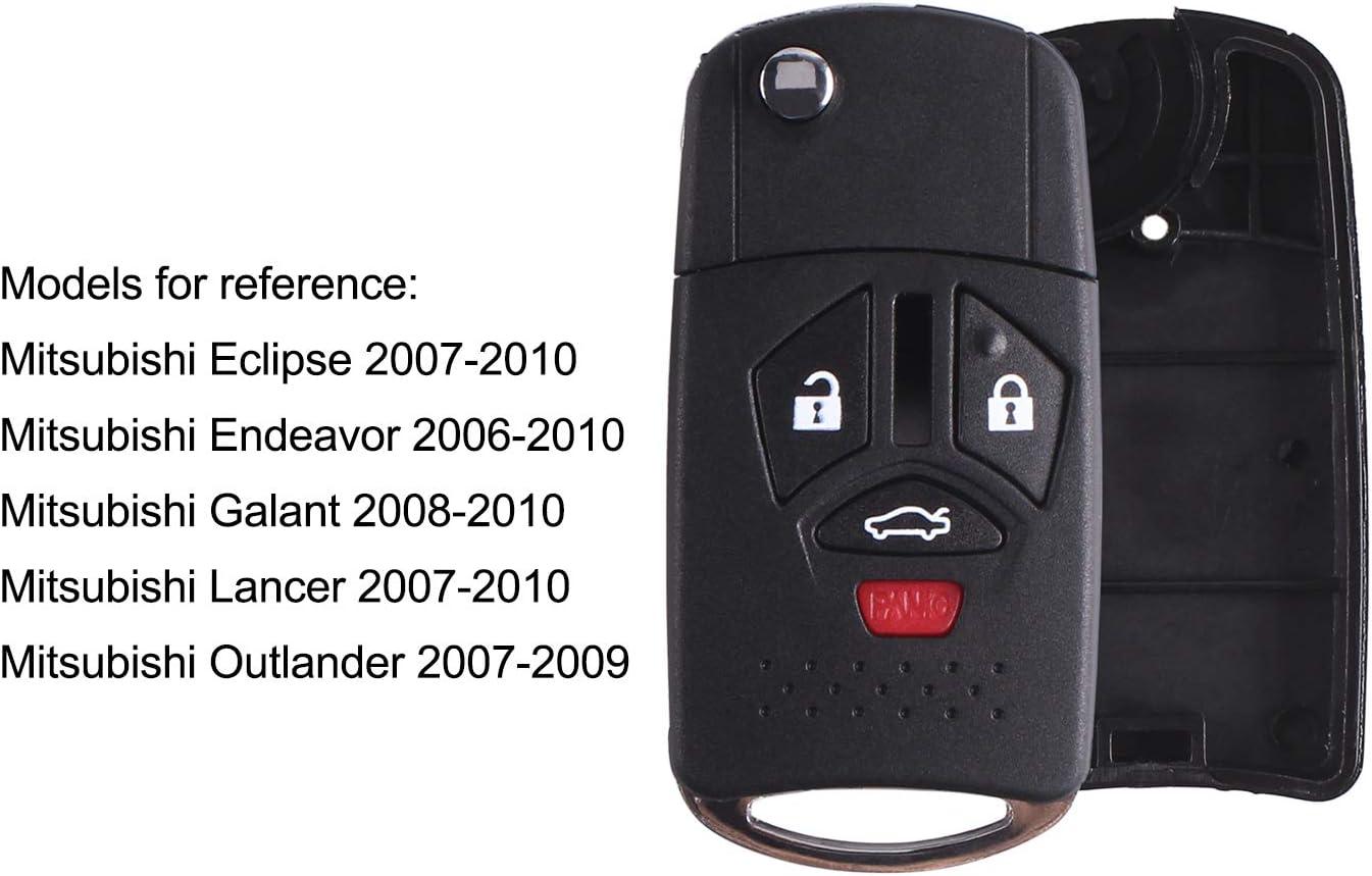 Mando Llave Carcasa para Mitsubishi Lancer 2006 2007 2008 2009 2010
