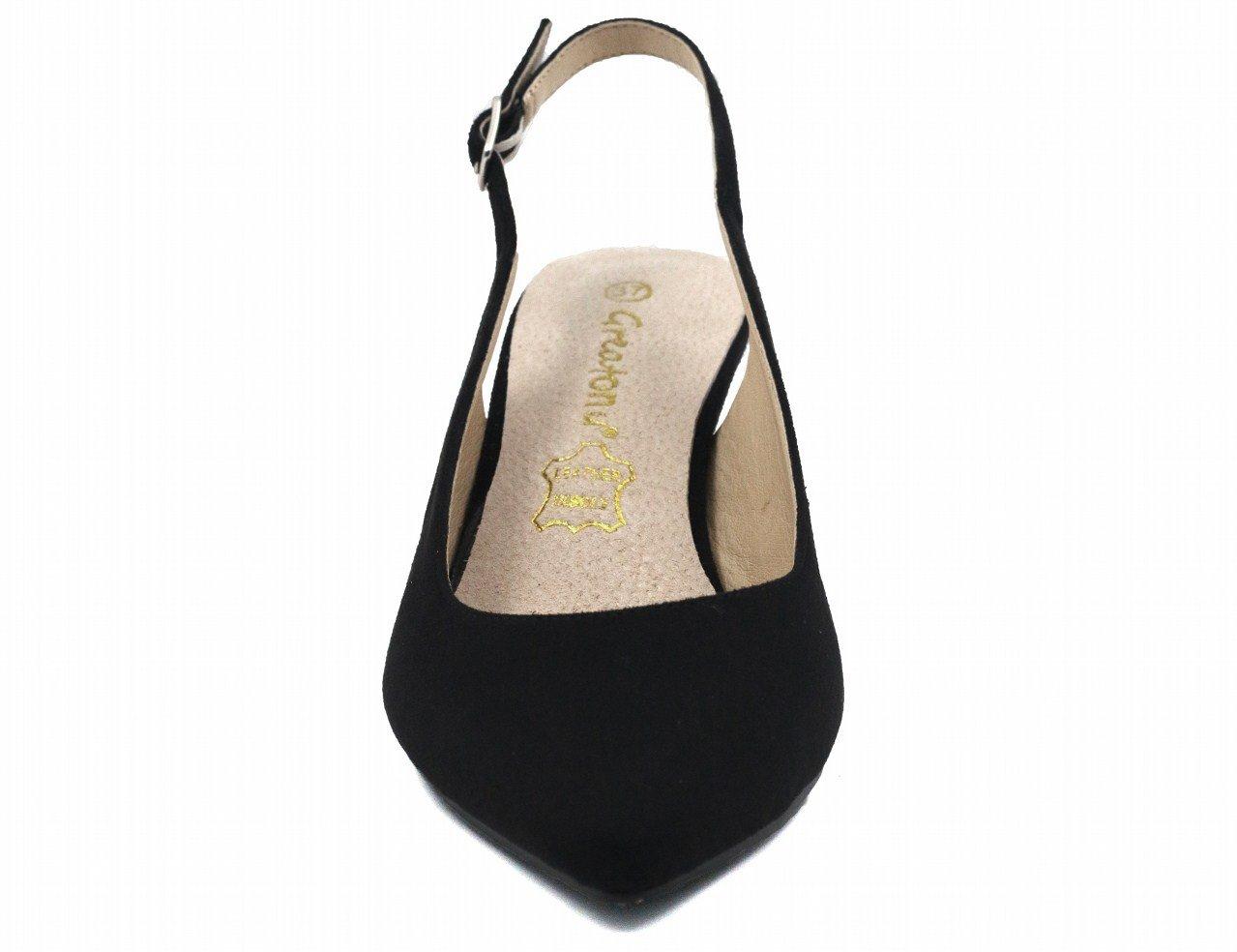 500fe0d08f2e6f Greatonu Womens Pointed Toe Slingback Dress Court Shoes
