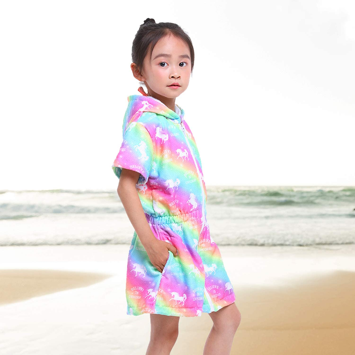 Cover-Ups & Wraps Sylfairy Unicorn Cover Up for Girls Terry Swim Cover Ups  Hooded Terry Kids Cover Up Bathing Suit Beach Dress 4-9Years Clothing,  Shoes & Jewelry samel.com.br