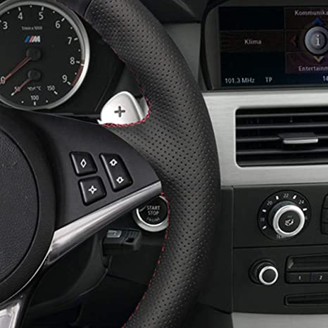 Amazon.com: MEWANT DIY Car Steering Wheel Covers Wrap for BMW E60 530d 545i 550i E61 Touring 2005-2009 E63 E64 630i 645Ci 650i 2004-2009 (no bulges + no M ...