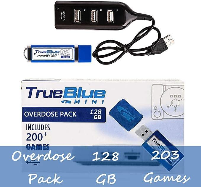 Searchyou True Blue Mini Overdose Pack con 128G 203 Juegos para ...