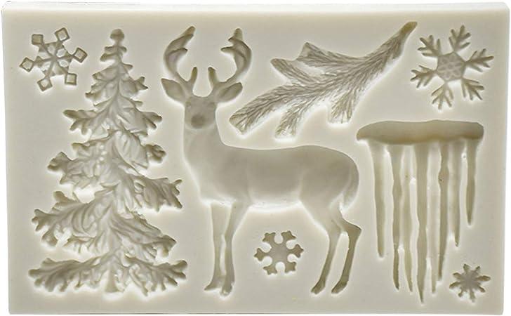 Kawaii elk mold Silicone Mold moose Resin Mold Fondant mold Chocolate mold Candy mold Christmas decoration mold Plaster mold Craft Mold