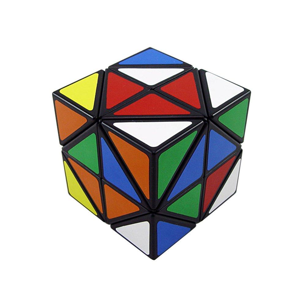 Cubo Magico Irregolare di 12 Esagoni Incassati Esagoni Cubo Nero Wings of wind Cubo Elicottero