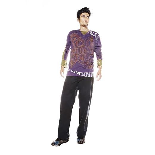 timeless design 58378 92a65 Custo Barcelona Men's Luri Mystking Long Sleeve Shirt Custo Size 1 2 3 4