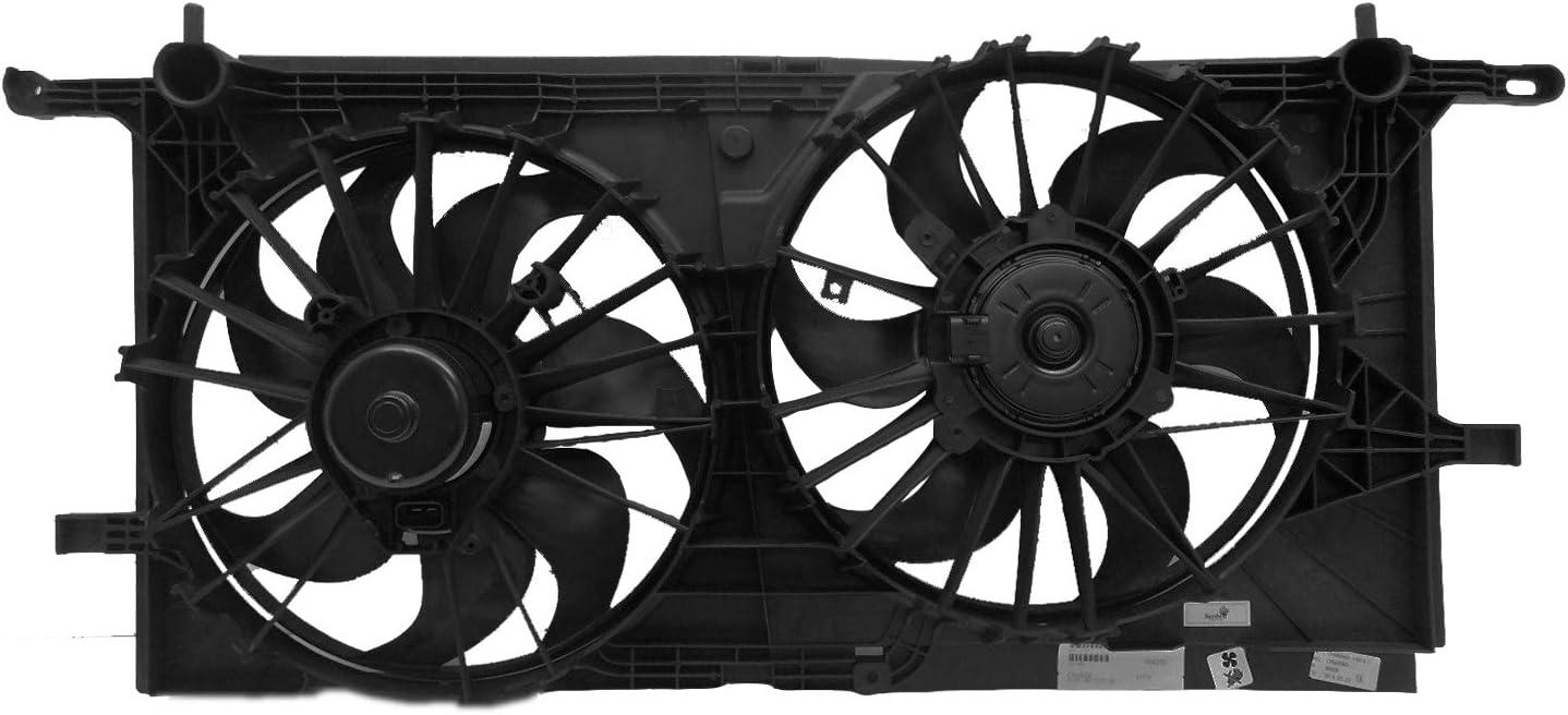 Sunbelt Radiator And Condenser Fan For Pontiac Aztek Buick Rendezvous GM3115136 Drop in Fitment