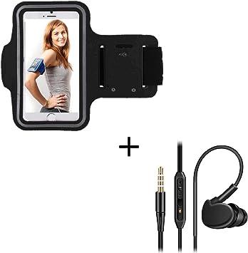 Pack Deporte para XIAOMI MI 9T Smartphone (Brazalete Deportivo + Auriculares Deportivos intraurales con micrófono) CORRIR T7 (Negro): Amazon.es: Electrónica