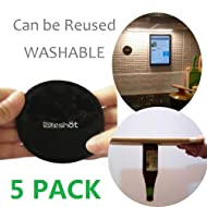 sunshot Premium Fixate Cell Pads, Sticky Anti-Slip GEL Pads - can Stick to Glass, Mirrors, Whiteboards, Metal, Kitchen Cabinets or Tile, Car GPS and many more (5pack (black))