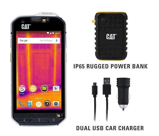 50% ceny fabrycznie autentyczne sprzedaż usa online CAT S60 Single SIM Rugged Waterproof Unlocked Smartphone - North American  Variant Bundle with 10000mAh Power Bank & Dual USB Car Charger