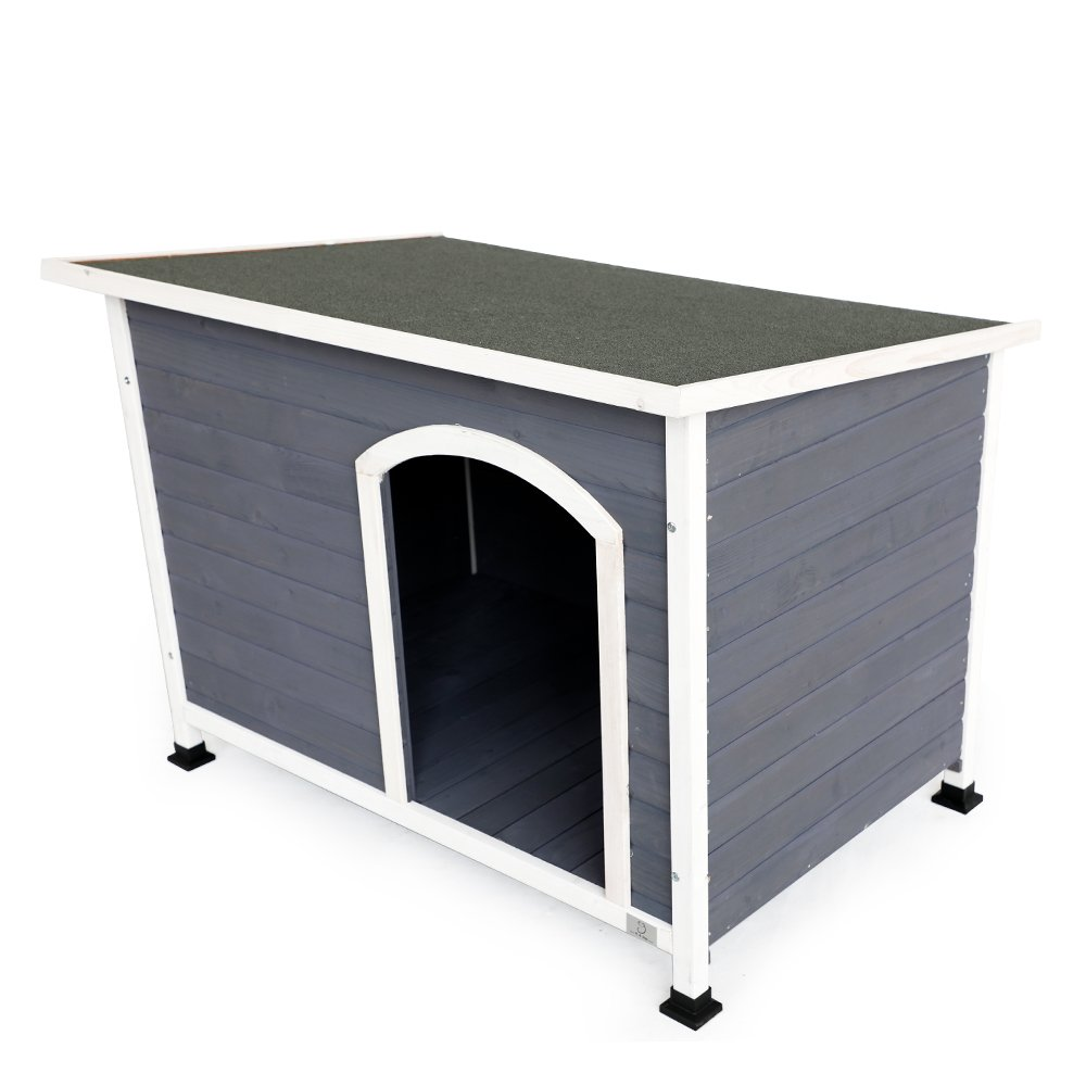 A4Pet Outdoor Dog House, Weather Protected, Raised, Easy to Clean, Small Medium Large
