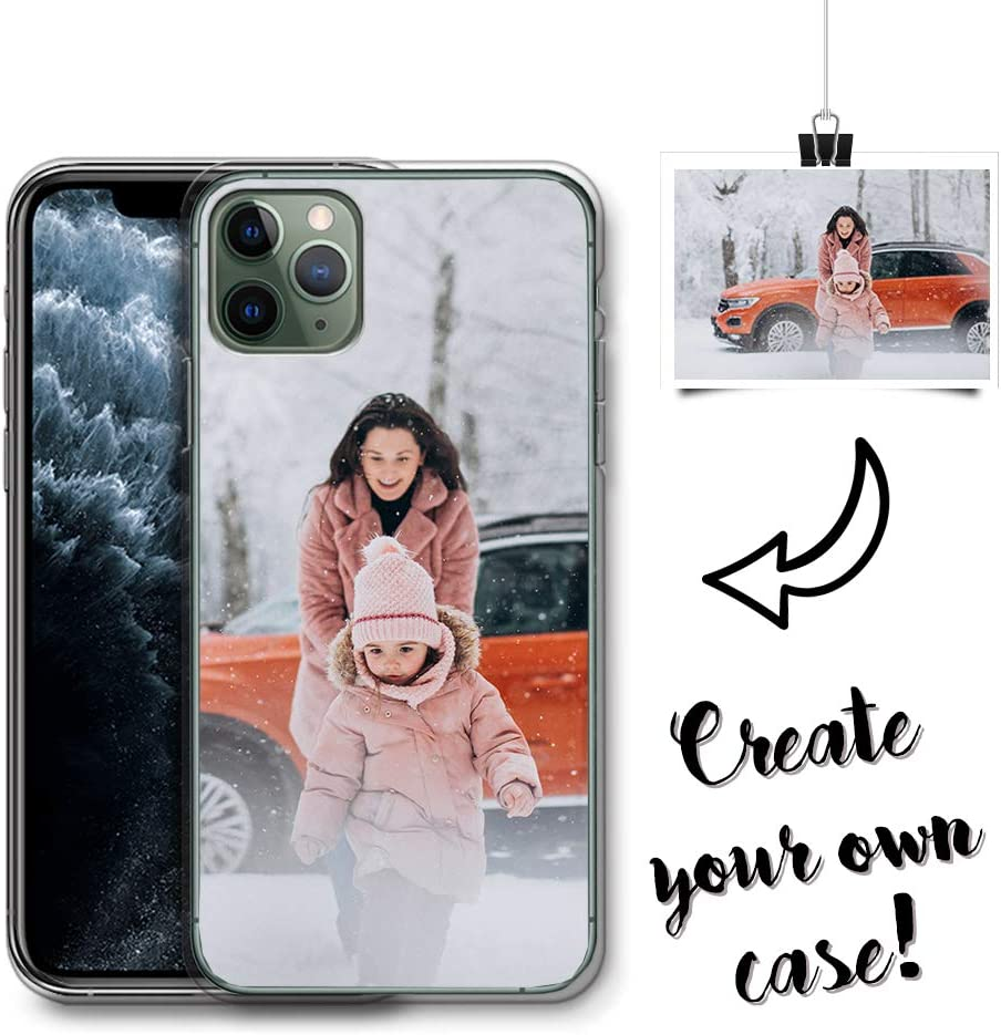 HELLO GIFTIFY Design Your Own, Personalized Photo TPU Phone case. Compatible with Apple iPhone 11 Custom Case