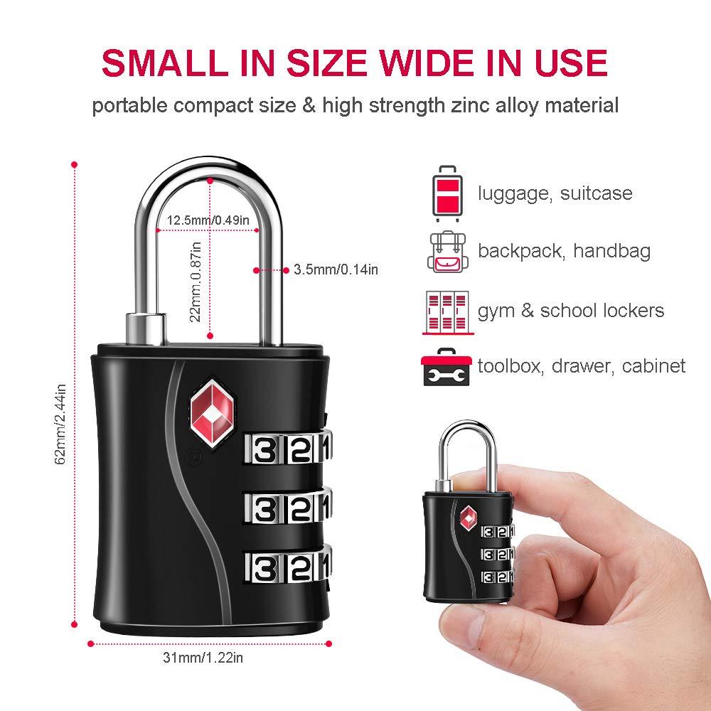 22mm Padlock Mini Luggage Suitcase Bag Security Locks Travel Accessories
