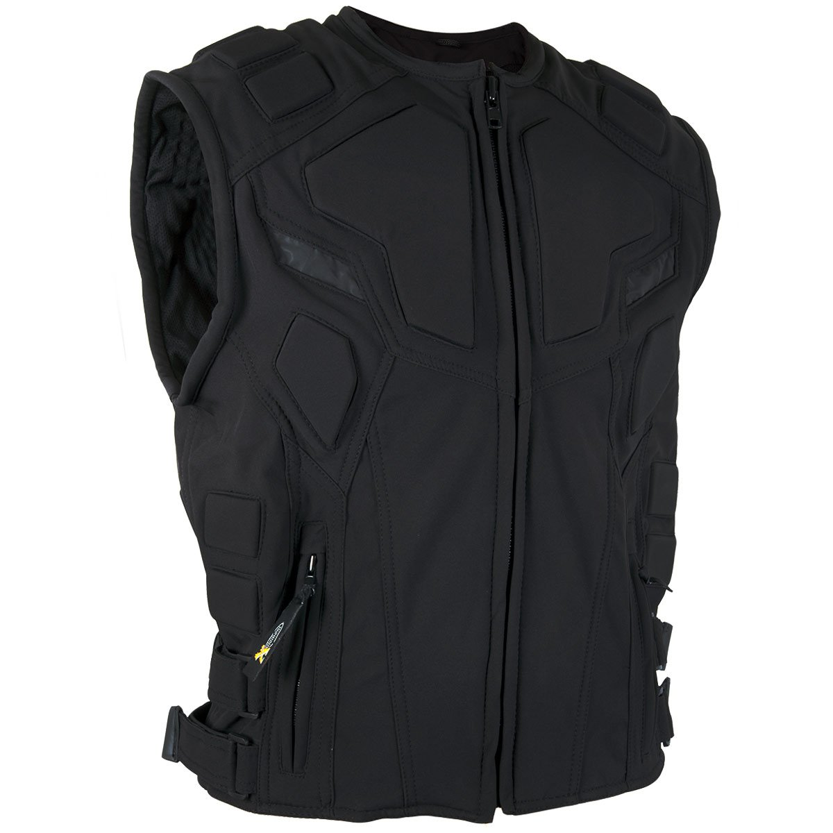 Xelement XS-3911 Mens Black Reflector Padded Soft Shell Fabric Vest with Back P - 3X-Large by Xelement