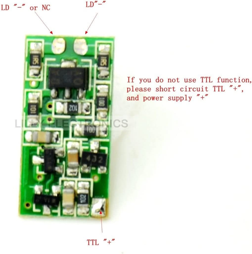 300/mA Q-BAIHE 635/NM 650/NM 808/NM 980/NM Laser Diode Fahrer Board 5/V Supply 50